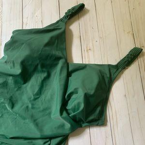 Merona green ruched boho swimsuit